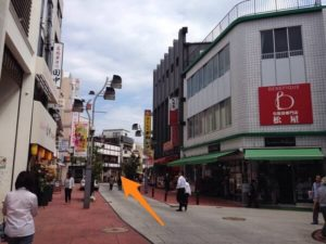 錦通りとダイア街とのT字路
