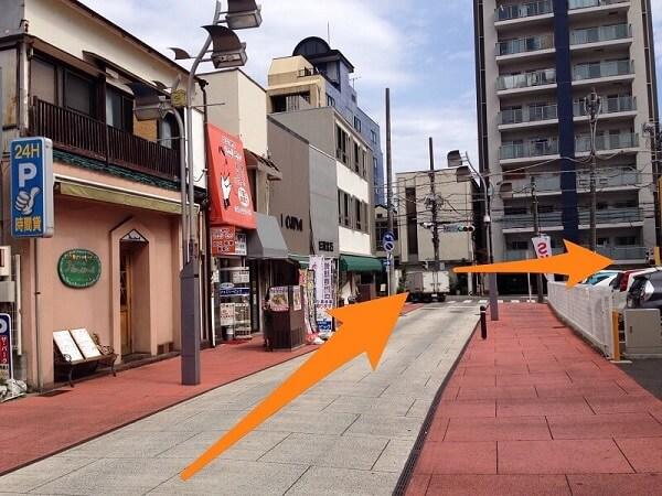 錦通り商店街と銀座通りの交差点