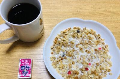 タンパク質の摂取量の実際朝食